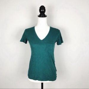Madewell Short Sleeve V-Neck Pocket Tee